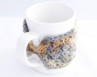 Crochet Coffee Mug Cozy -  Crochet Tea Cup Cozy - Crochet Mug Sweater - Teacher Appreciation Gift - Mother's Day Present - Gift for Mom