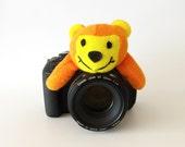 Baby/Kids/Children Photography Props, Lens Pal, Photo Friend, Camera Lens Accessories, Camera Toy, Orange Honey Bear, Lens Buddy