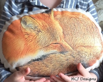 Red Fox Woodland Pillow, Personalized Pillow, Spring Home, Red Fox Pillow, Country Home Decor, Decorative Pillow.