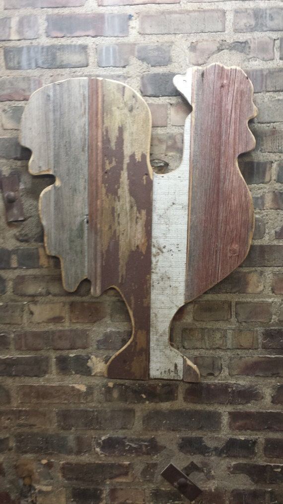 rustic wood wall decor items similar to rustic reclaimed wood rooster wall decor 11241