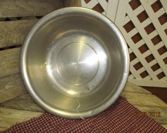 Vintage Vollrath Stainless Steel 9 Quart Wash Basin Bowl marked with U.S. Military Medical Insignia