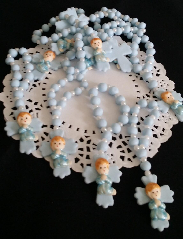 Cake Decoration Rosary Beads : Rosary Favors Baptism rosaries 24 Mini Rosaries Favors