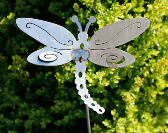 Small Metal Dragonfly Yard Stake