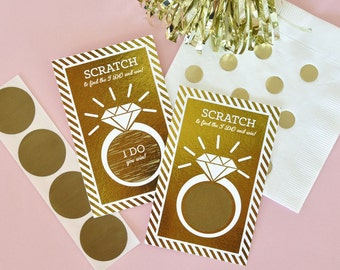 Fun Bridal Shower Games - Unique Bridal Shower Game Ideas - Bridal Shower Scratch Off Cards GOLD Bridal Shower Game (EB3119FW) -16 cards