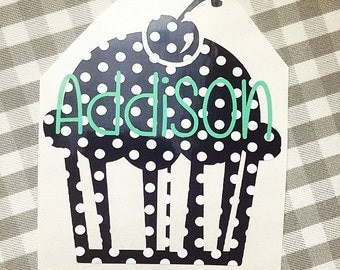 Monogram OR Name Cupcake
