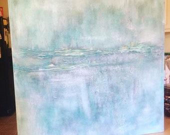Sky Blue Acrylic Painting