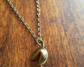 Fortune Cookie Gold Necklace