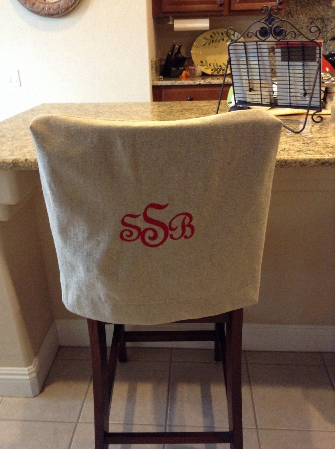Monogrammed Chair Back Cover Natural Linen washable fabric : ilfullxfull859153006gdk5 from www.etsy.com size 1120 x 1500 jpeg 306kB