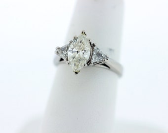 Platium Marquise Diamond Ring