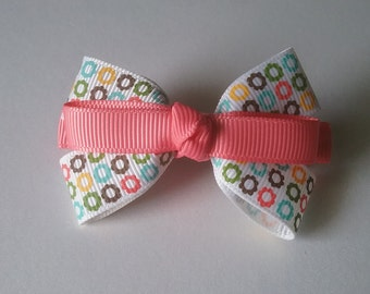 Coral and Print  Multi Barrette