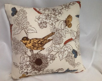 """18"""" Square Gorgeous Bird Pillow Cover.............Invisible Zipper....New"""