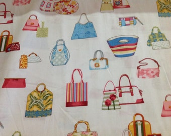 """INSTOCK.....Alexander Henry Bag Lady Whimsical Fabric 44"""" wide..........NEW off the Bolt"""
