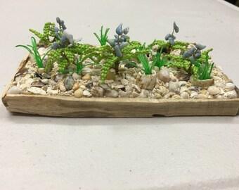 sand garden blue