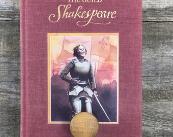 BOOK wall HOOKS • SHAKESPEARE Guild  •  wall knob •, recycled books • up cycled books
