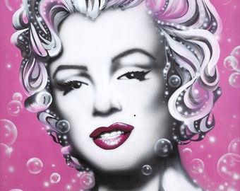MARILYN MONROE (SOLD) celebrity portrait painting by Artist Alicia Hayes