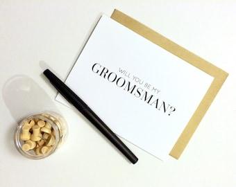 Groomsman Card - Will You Be My Groomsman? | Wedding Party Card, Wedding Card, Husband, Bride, Groom, Guy Card, Wedding Planning