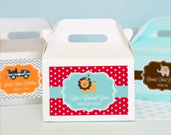 Birthday Party Favors-Party Treats for Kids-Favor Boxes-Personalized Kid's Birthday Mini Gable Boxes (set of 24)