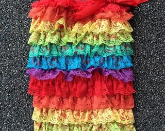 Rainbow romper - 1st birthday rainbow romper