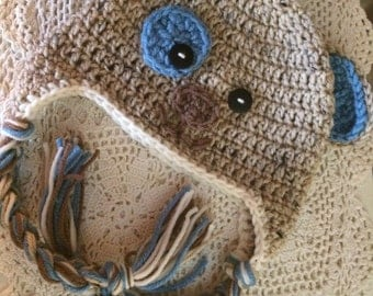 Items Similar To Knit Baby Booties Puppy Dog Crochet Baby