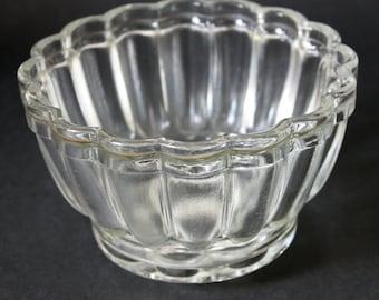 Vintage Round Glass Jelly Mould