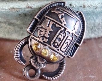 Egyptian Scarab Beetle Charm
