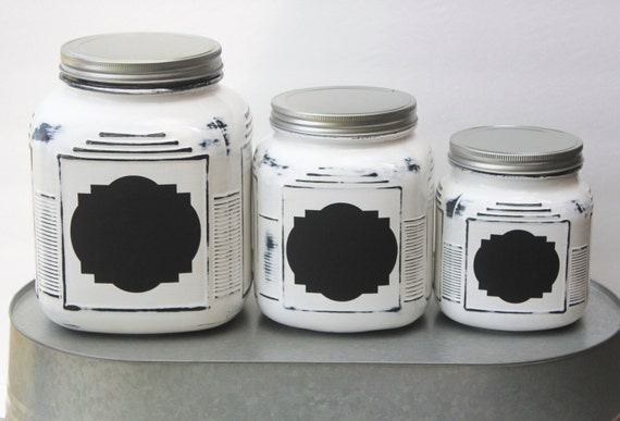 White Farmhouse Kitchen Canisters – Quicua