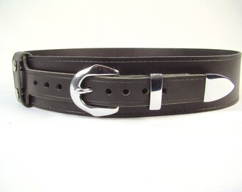 Kilt Belt Black Kilt Belt Chrome Buckle 3 Piece Set Belt