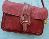 "Dooney & Bourke ~ AWL ~ Maroon ~ Awesome ~ Mint ~ Cross Body ~ Essex Bag ~ Medium size ~  7"" X 9.5"" X 2.5"""