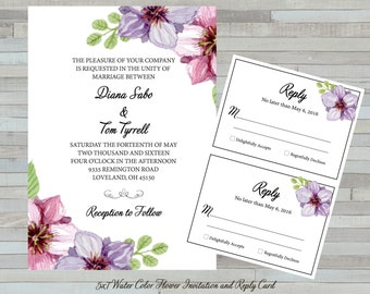 Wedding Invitation and Reply Cards