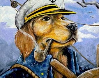 Sea Dog - Original GMONIK Painting