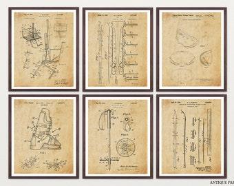 Ski Patent Posters - Skiing Art - Skiing Wall Art - Skiing Patent - Ski Boot - Ski Pole - ...