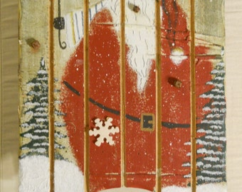 Santa Painted Sled