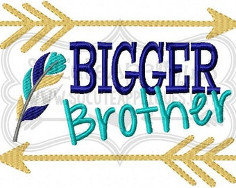 Bigger Brother Sibling Shirts Kids or Babies T-shirts or Bodysuit Your Choice Baby Shower Gift