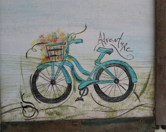 Hand painted Bike sign
