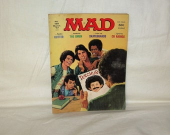 vintage march 1977 mad magazine with welcome back kotter on the cover