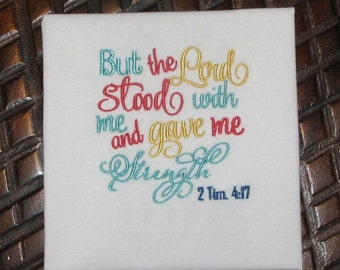 Bible Verse Embroidery Design