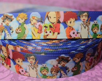 "1"" Anime Grosgrain ribbon for Sewing/Garment/DIY Hair Craft"