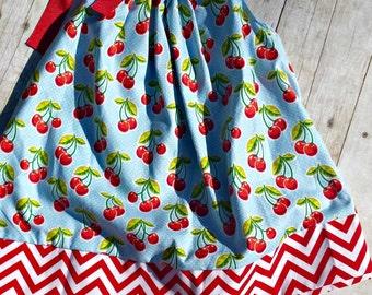 Adorable Cherry Pillowcase dress