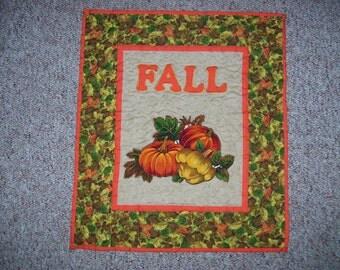 Fall quilt-pumpkin and squash quilt-autumn quilt-veggies quilt-wall quilt-table decoration-message quilt
