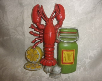 Homco Lobster Wall Plaque