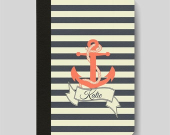 iPad Folio Case, iPad Air Case, iPad Air 2 Case, iPad 1 Case, iPad 2 Case, iPad 3 Case, iPad Mini Case - Nautical Anchor Personalised Case