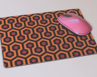 Fabric Mousepad, Mousemat, 5mm Black Rubber Base, 19 x 23 cm - The Shining Carpet Design Mousepad Mousemat