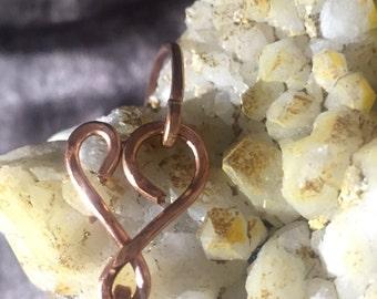 Copper Heart Bangle