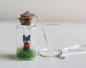 Jiji bottle charm necklace