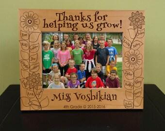 Personalized Teacher Frame, Teacher Gift Frame, Thank You Gift, Teachers, Teacher Gift, Personalized  Frame, Wood Frame, Engraved Gift