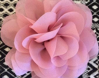 Handmade Flower Clip in pink