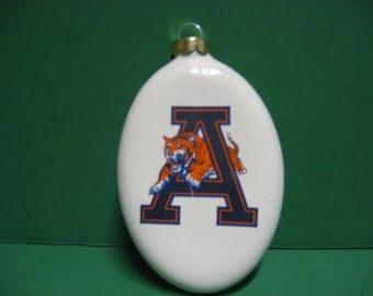 A 4 inch Auburn Tiger Christmas tree ceramic ornament...Awesome