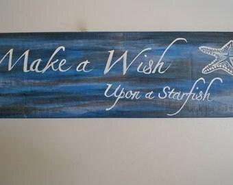 Wish Upon a Starfish Beach Sign