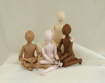 Cloth Doll Blank Body Form.' Earth Children' Cloth Doll