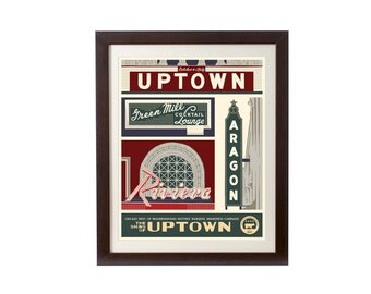 Uptown (Chicago Neighborhood) WPA-Inspired Poster